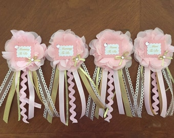 Personalized Baby Shower Corsage, Baby Shower, Choose your Theme/Colors, Mommy to be