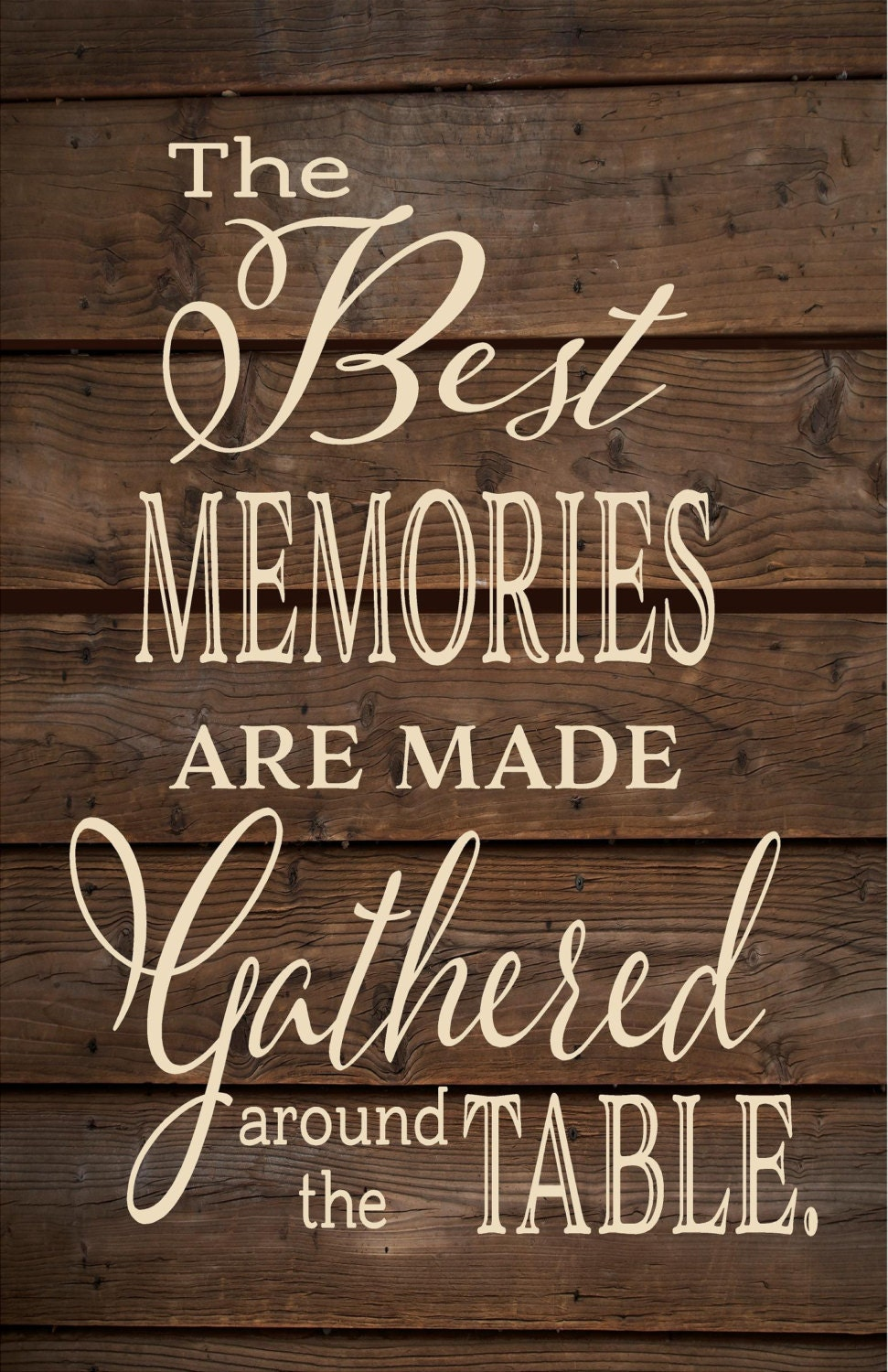 The Best Memories Are Made Around The Table Wood Sign Or