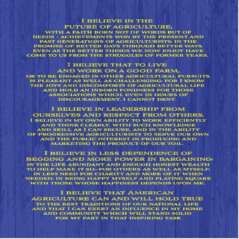 Ffa Creed Backdrop Banner For Fair Booth Show Barn Parade
