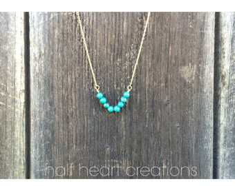 SALE || Turquoise V Necklace