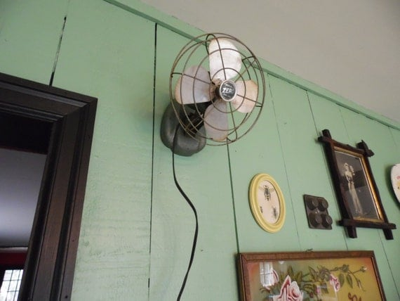 Vintage Wall Mounted Fans : Vintage zero fan wall mount or table top small by