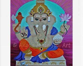 Ganesh - Ganesha - Ganesh wall art - Hindu art - Ganesha home decor - Elephant god - Lord Ganesh - Hindu elephant god - House warming gift