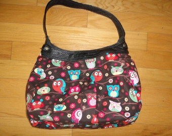 New Thirty-one Purse Skirt for Retired Purse Brown with Cute Owls in a Tree 31 Gifts