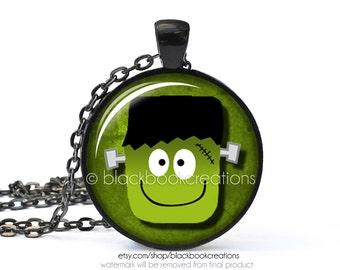 Frankenstein Halloween Necklace -  Handmade