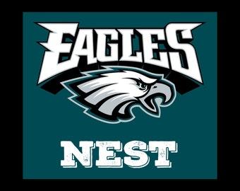 Philadelphia Eagles Nest Art on Canvas 12X14