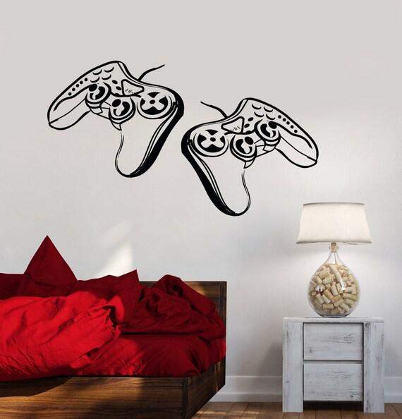 Wall decal gamer gaming video games joysticks decor z2214 for Dragon ball z bedroom ideas