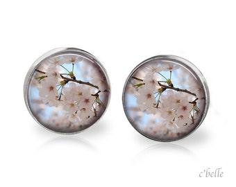 Earrings flowers - cherry blossom 11