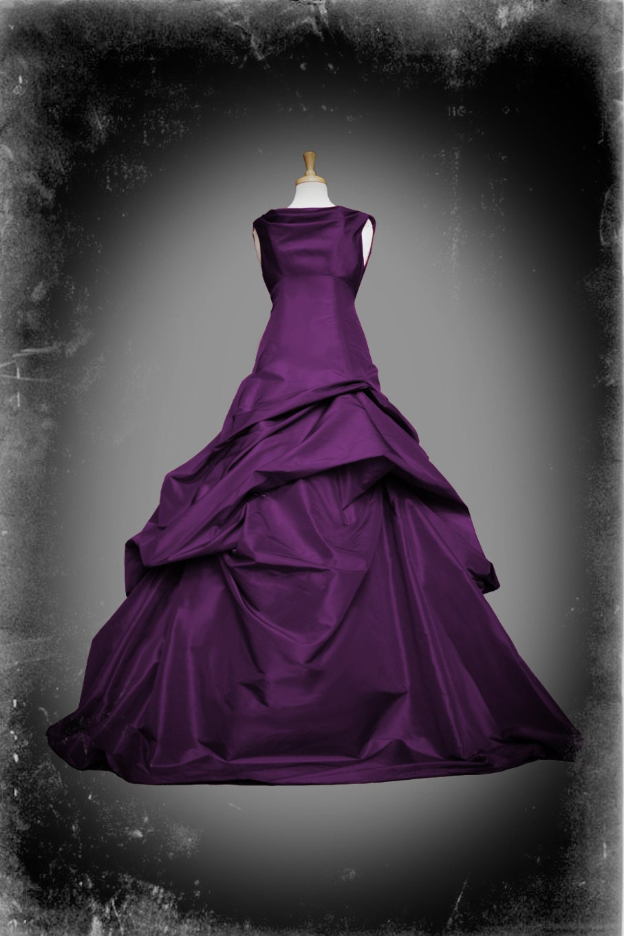 Purple wedding dress gothic ball gown casey style custom for Wedding dresses with purple