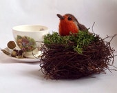 Needle Felted little robin MADE TO ORDER using a selection of quality wool tops