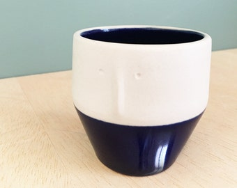 """Friend"" - Cup espresso Cup / pot plants - stoneware - small - handmade in my Studio - ready to ship"