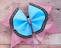 Cheer Bow - dance bow - cheer team bows - competition bows - Nationals cheer bows - sparkly cheer bows,