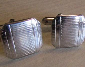 Swank Silver Tone Cuff Links