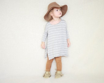 Baby Oversized Tee, Side Slit tee, Modern Baby Clothing