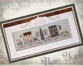 """COUNTRY COTTAGE NEEDLEWORKS """"Afternoon In New York"""" 