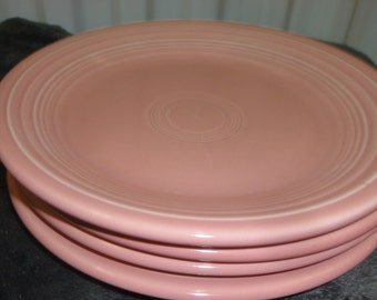 Set of 4 Homer Laughlin Pink Dinner Plates