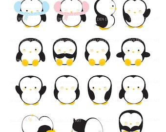 Penguin Clipart, Kawaii Penguins Clipart, Cute Penguins Clipart, Kawaii Penguin, Kawaii Clipart, Kawaii Penguin Clipart,