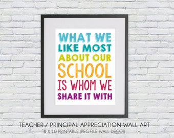 teacher appreciation/principal/boss appreciation gift - what we like most about our school is whom we share it with - digital DIY jpeg file