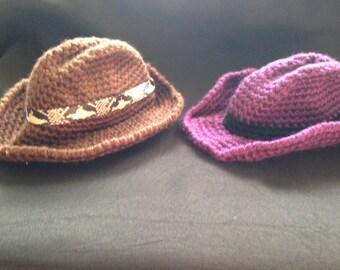 crochet toddler/child cowboy hats