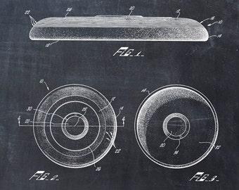 Frisbee Patent Print - Patent Art Print - Patent Poster - Frisbee Golf - Frisbee Art - Disc Golf Basket - Disc Art