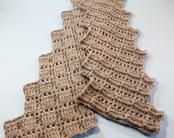 Crocheted Lace Scarf PDF Pattern Crocheted zigzag lace scarf pattern  PDF scarf pattern