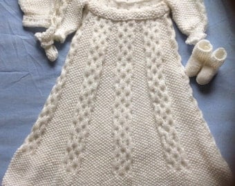 Latticed Christening Gown