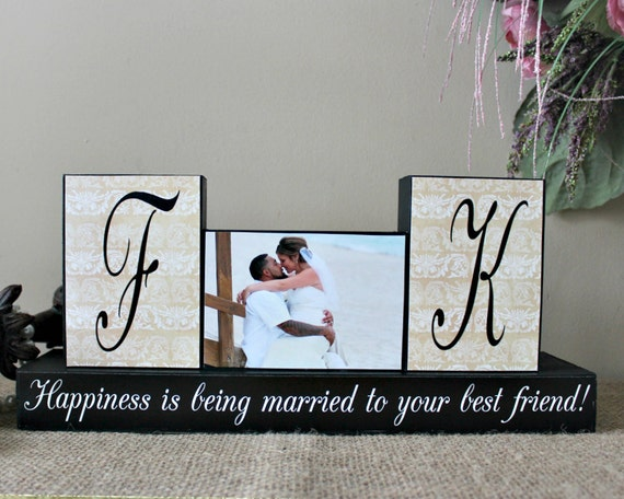 Special Wedding Gift For Friend : Personalized Unique Wedding Gift for Couples, Wedding Wood Sign ...