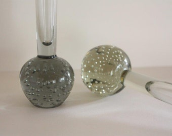 Small Vintage Controlled Bubble Glass Vases ~ Mid-Century ~ Buy one or both
