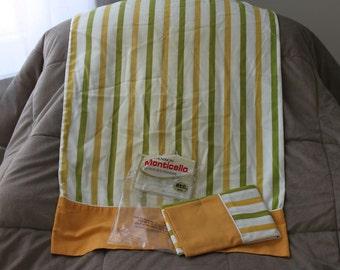 Vintage  Pillowcases Cannon Monticello Stripes