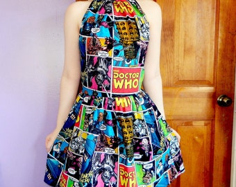 Doctor Who comic book dress.