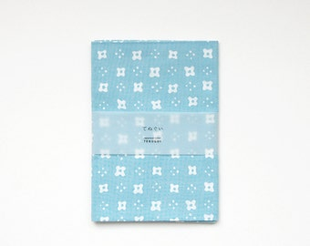"""Tenugui (Japanese Cotton Towel Fabric) dyed with 'Chu-sen' - """"small flowers"""""""