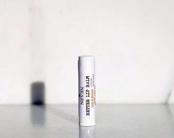 Orange Bite Lip Balm with mango butter, beeswax, macadamia oil and apricot kernel oil
