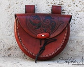 Floral Leather Pouch
