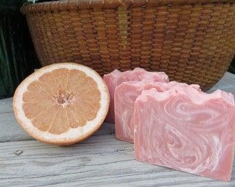 Pink Grapefruit Soap, All Natural Soap, Handmade Soap, Bar Soap, Cold process Soap, Homemade Soap, Artisan Soap, New Hampshire Soap, Bath