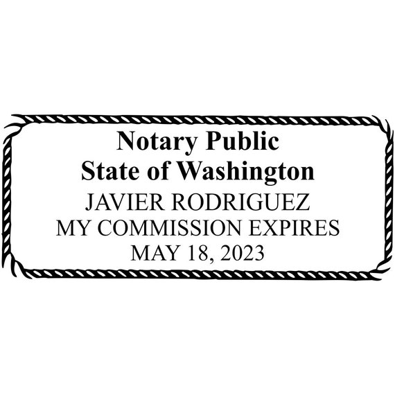 20% OFF SALE Washington Custom Notary Stamp by ...