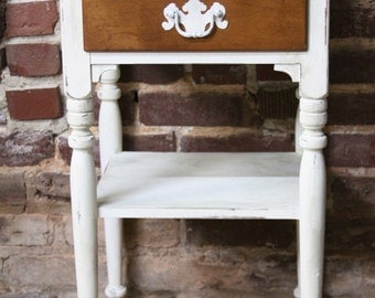 Ethan Allen Shabby Chic Side Table