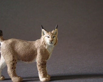 male eurasian lynx (lynx lynx) 1:20/resine/Hand painted/ collector