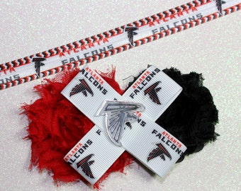 Atlanta Falcons Clip or Headband - Falcons clip - Falcons Headband - falcons - Falcons baby headband