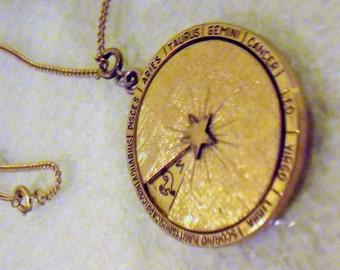 Vintage Gold Zodiak necklace
