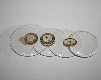 Vintage Pocket Watch Glass Flat Bend Clear Retro Old Repair Watchmaker 5mm 50mm