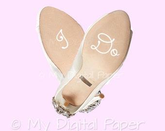 I Do Wedding Shoe Decal - Bridal Shoe Sticker - Custom Shoe Decals for Wedding - Wedding Shoe Sticker - Shoe Sole Decal