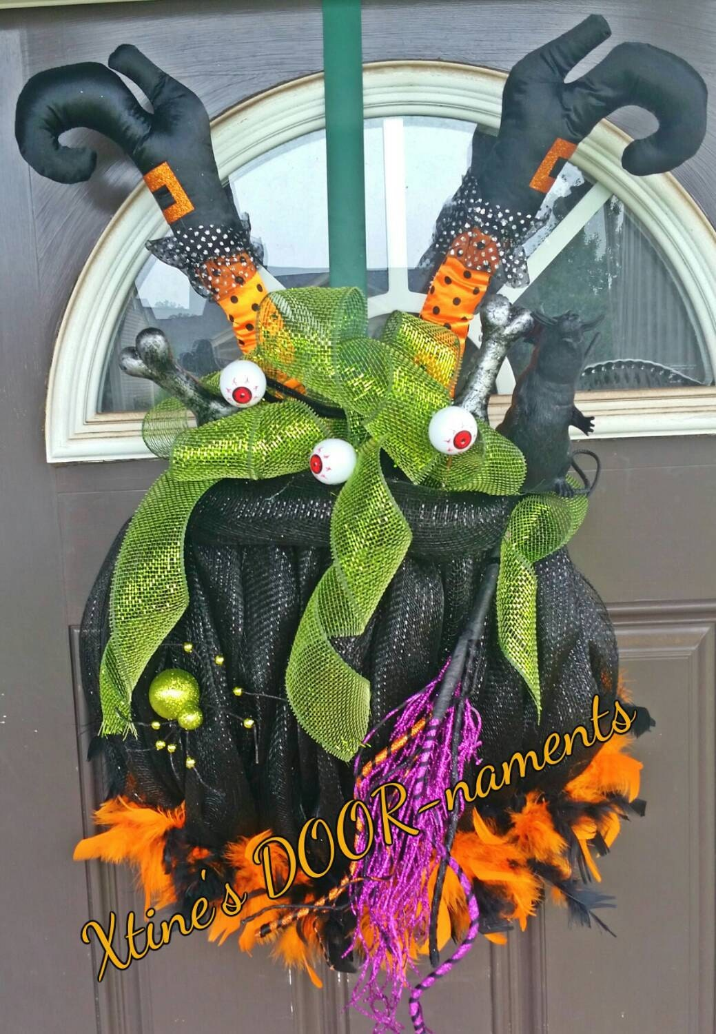 Free Shipping New Etsy Listing Halloween Wreath Witch S