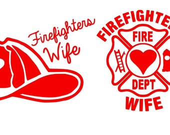 Firefighter's Wife Decals! ~FREE SHIPPING!~