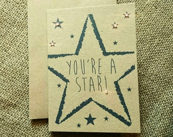 "Star ""You're a star"" greeting card"