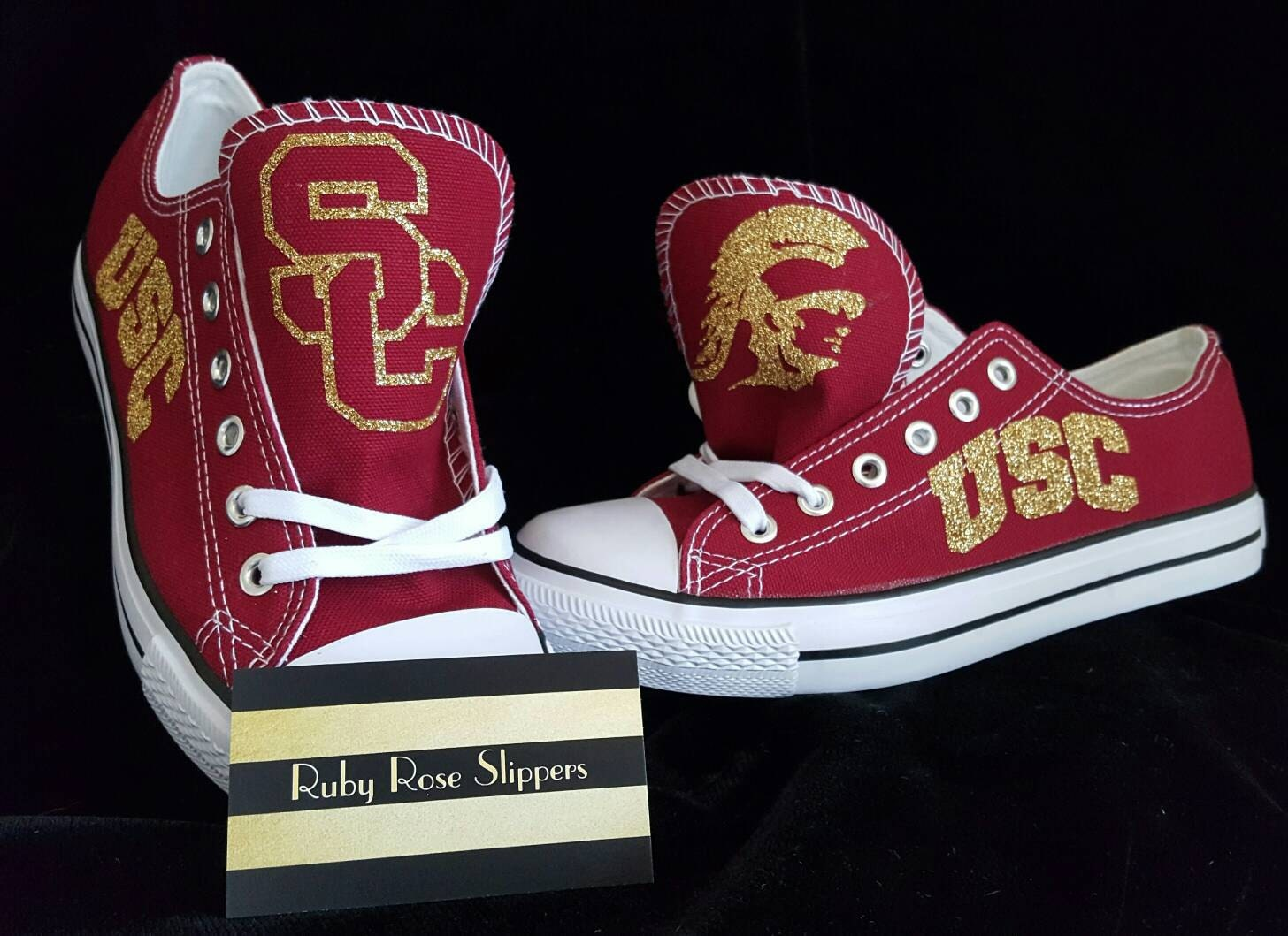 custom college shoes inspired by trojans usc shoes sports fan
