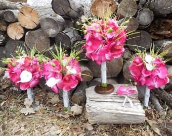 Hot Pink Bouquet Set