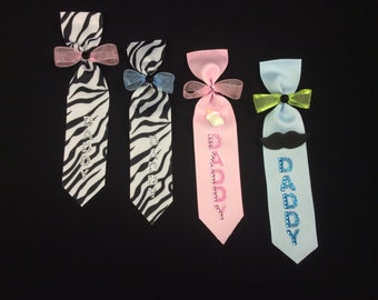 Daddy To Be Tie, Baby Shower, Pin, Corsage, Baby Girl/Boy, Decoration
