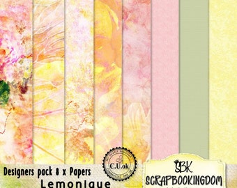 CU Paper Pack . for designers or personal use LEMONIQUE  Digital scrapbooking papers