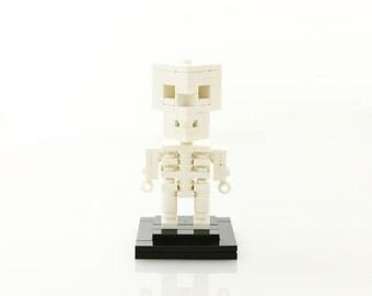 White Skeleton Halloween LEGO® Figure (Unofficial)