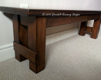 New Reclaimed Wood Dining/Family Room/Hallway Bench/Seat/Chair