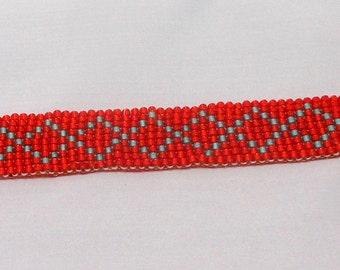 B02231 - Hand Made Beaded Cris Cross Bracelet
